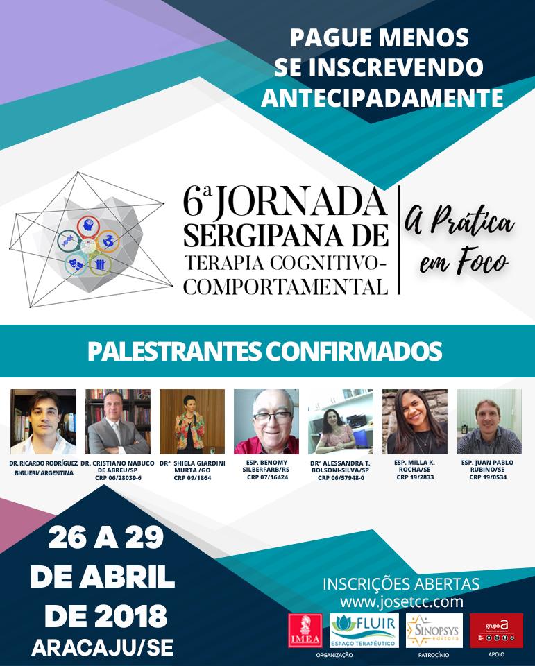 6ª Jornada Sergipana de Terapia Cognitivo-Comportamental