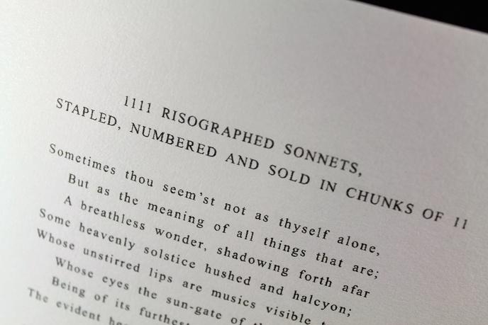 1111 Risographed Sonnets [Pocket Edition] thumbnail 3