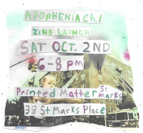 Apophenia Ch. 1 Sidewalk Zine Launch