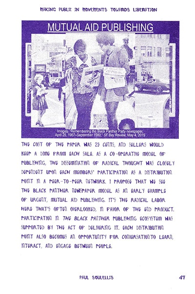 Urgent Publishing After the Artist's Book: Making Public in Movements Towards Liberation thumbnail 2