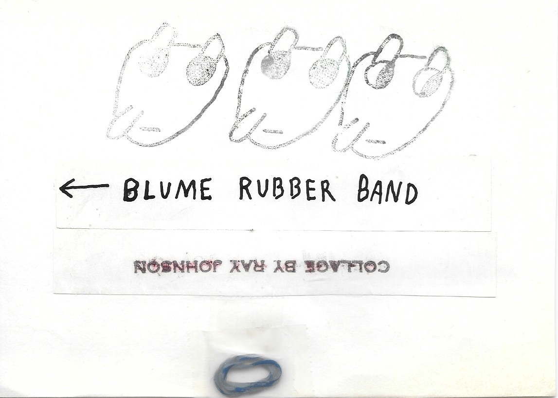 Untitled [Silhoutte Drawing with Beard / Shelley Duval Fan Club / BLUME RUBBER BAND] thumbnail 2