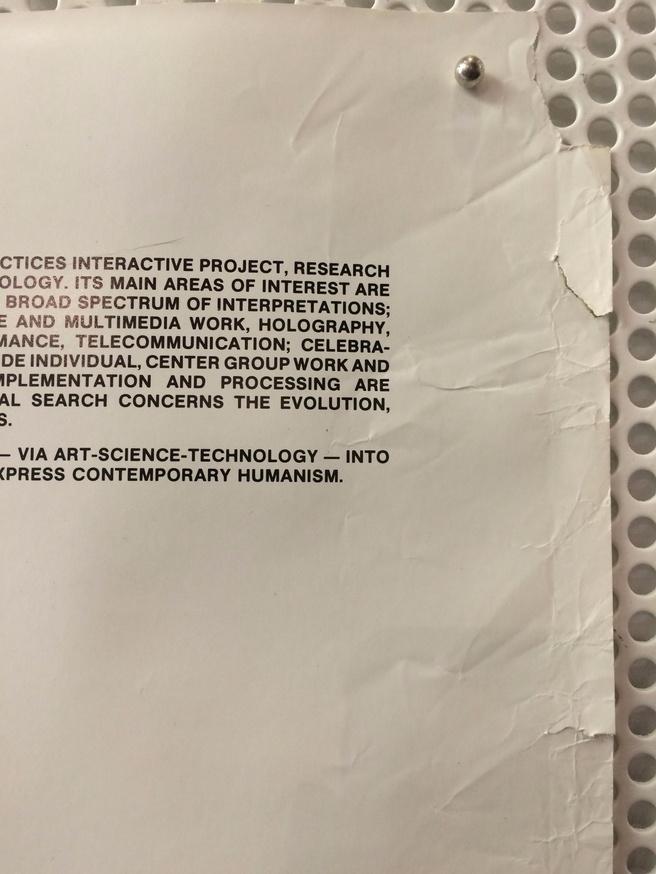 Center for Advanced Visual Studies : Subjects, Fall Semester, 1989 thumbnail 2