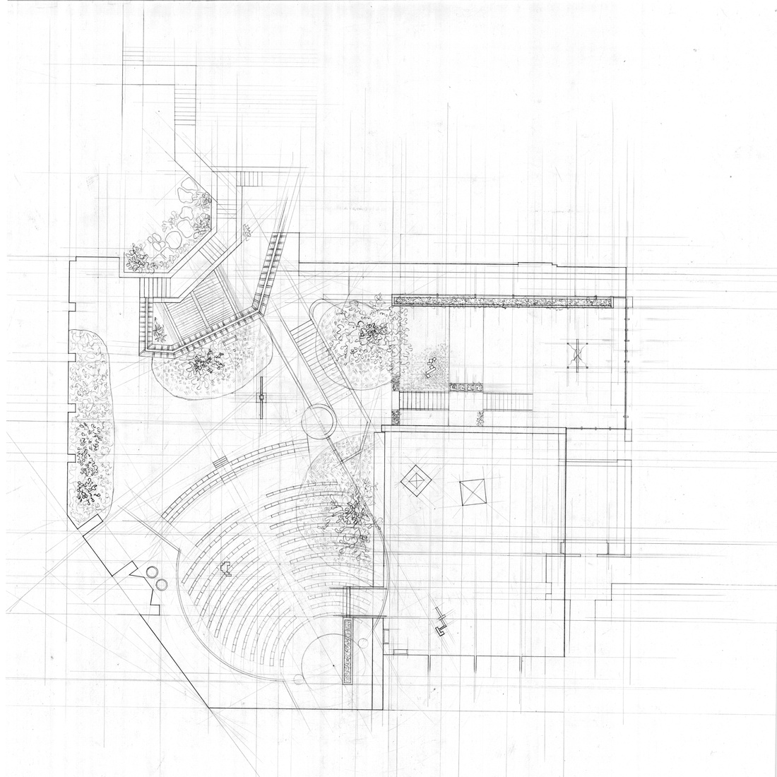 Plan drawing by Erin Hyelin Kim.