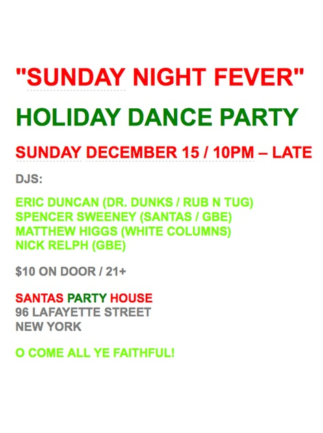 SUNDAY NIGHT FEVER - Holiday Dance Party