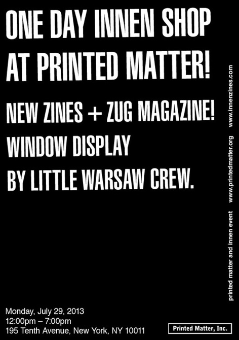 One Day Innen shop & launch of new zines