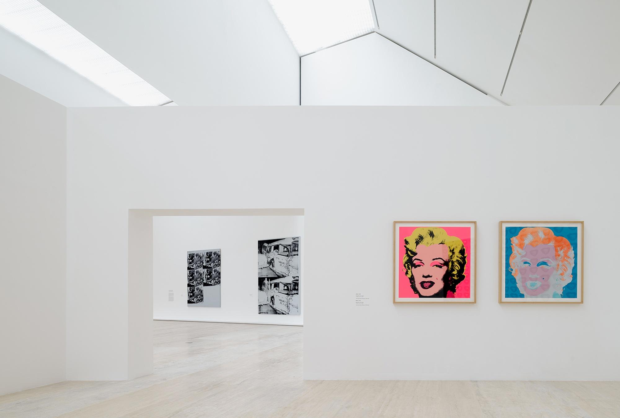 vista de la exposición de Andy Warhol en México