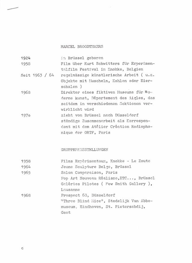 "Dusseldorf 1972 ""Musee d'Art Moderne, Departement des Aigles"" Press Pack Bootleg thumbnail 5"