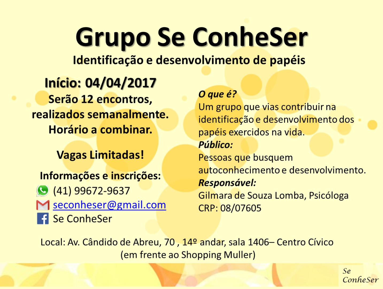 Grupo Se ConheSer: Identificação e desenvolvimento de papéis