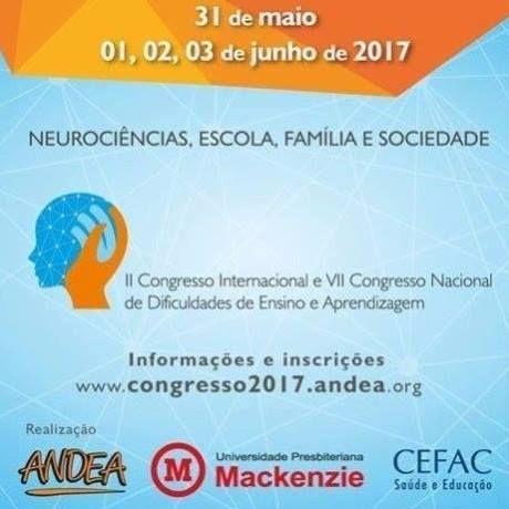 II Congresso Internacional e VII Congresso Nacional de Dificuldades de Ensino e Aprendizagem