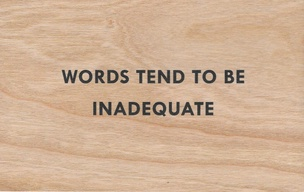 Words Tend To Be Inadequate Wooden Postcard