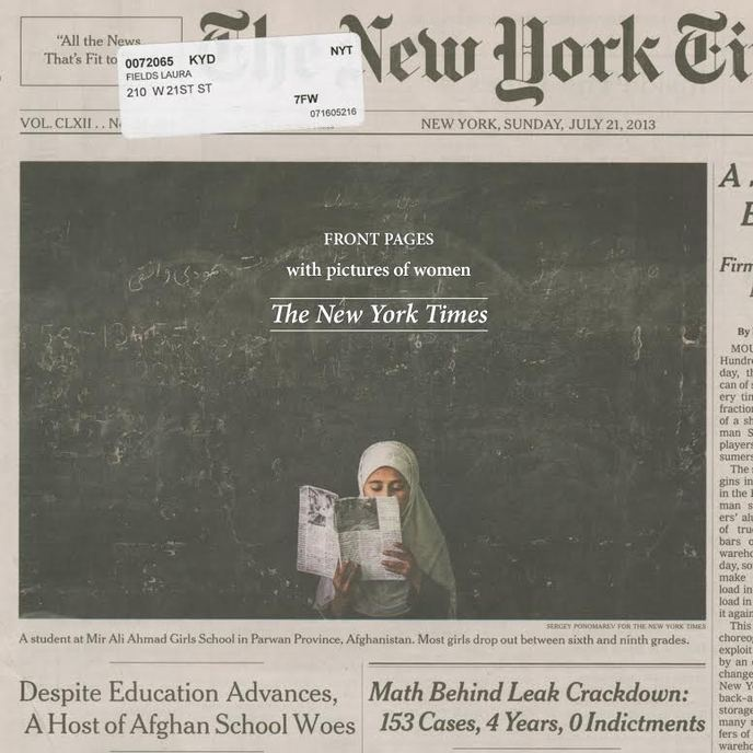 Front Pages with Pictures of Women : The New York Times
