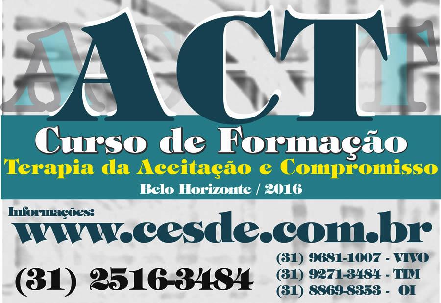 Formação em ACT - Terapia da Aceitação e Compromisso