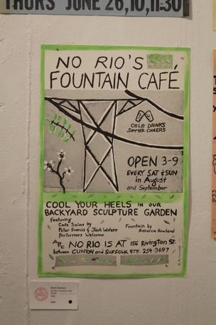 No Rio's Fountain Cafe Poster