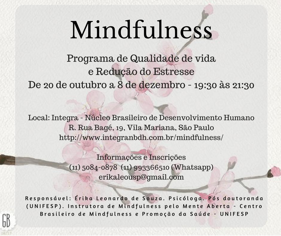 Mindfulness: Programa de Qualidade de Vida e Redução do Estresse