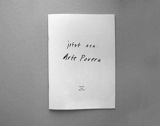 Jetzt Neu: Arte Povera