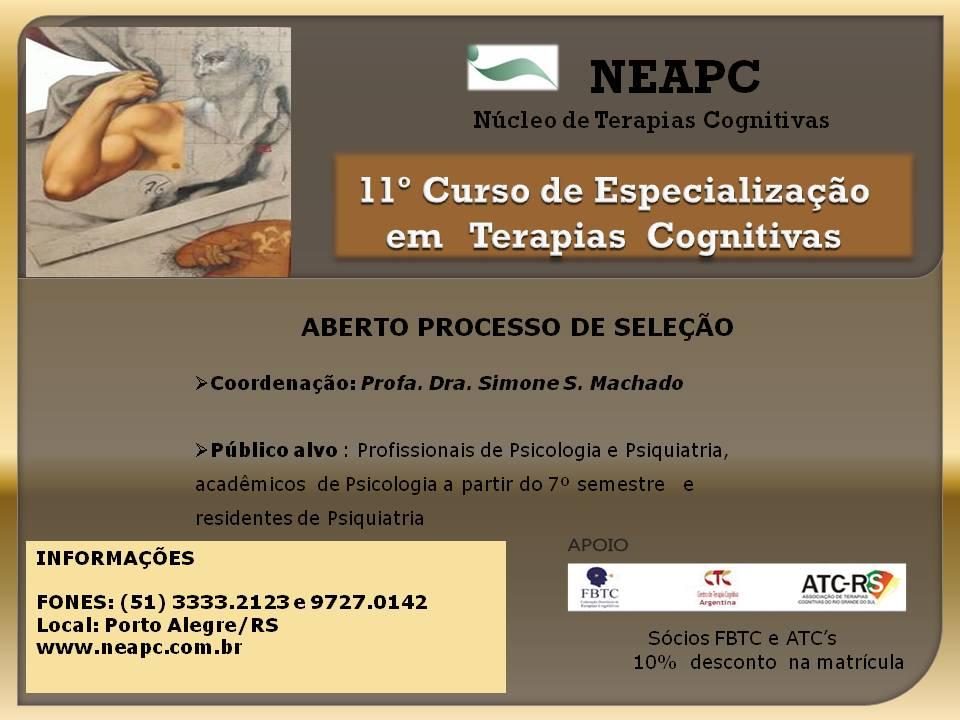 11º Curso de Especialização em Terapias Cognitivas
