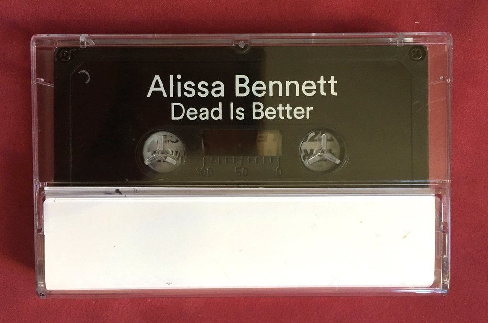 Dead Is Better Cassette [Hand-Drawn Cover] thumbnail 3