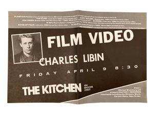 Charles Libin, April 9, 1982 [The Kitchen Posters]