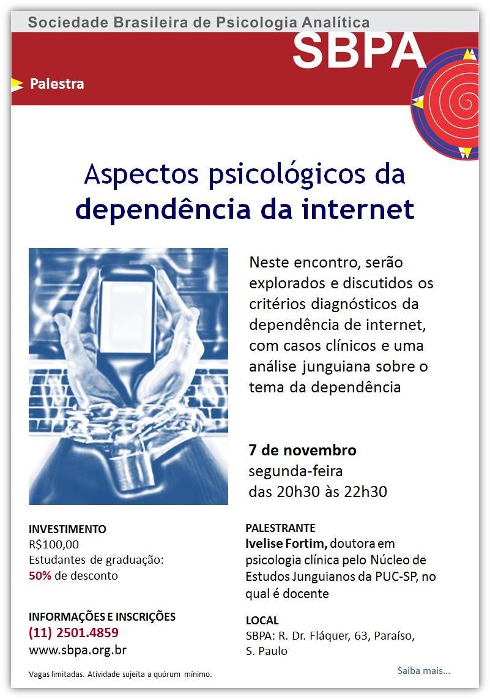 Aspectos psicológicos da dependência da internet