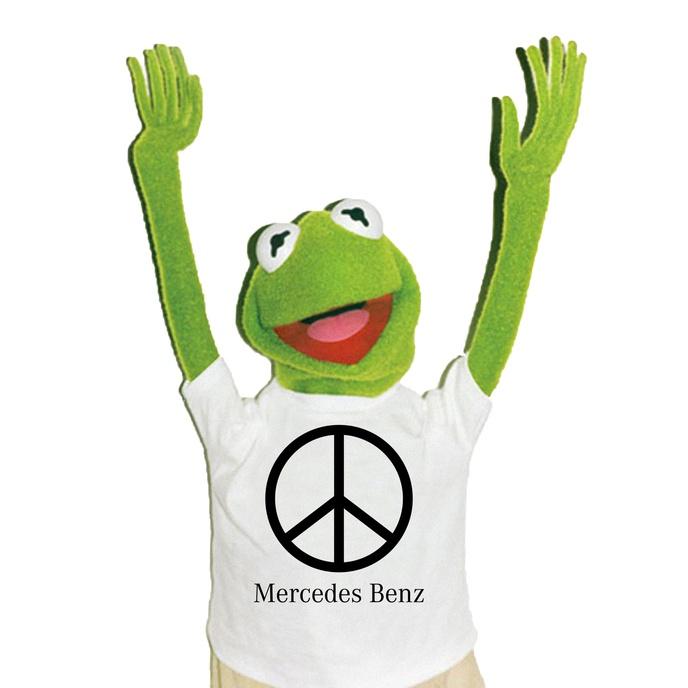 Mercedes Benz Peace Sign Bootleg T-Shirt [S, XXL]