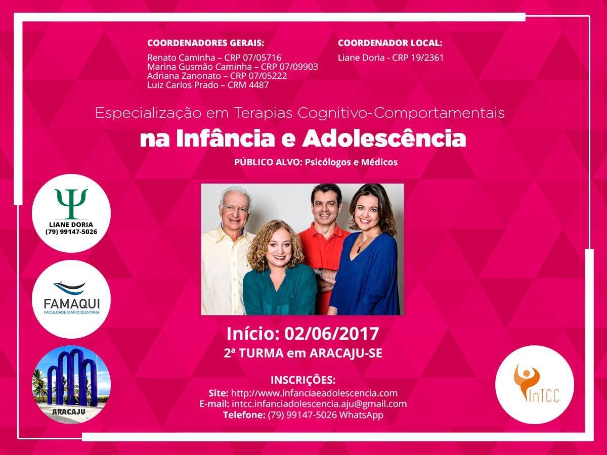 Especialização em Tcc na Infância e na Adolescência em Aracaju/Se