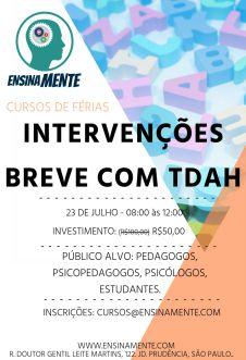 Curso: Intervenções Breves com TDAH