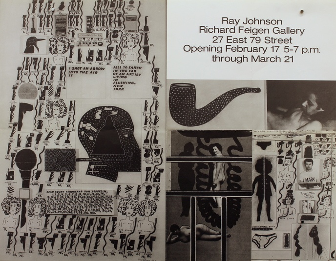 Ray Johnson : Richard Feigen Gallery, 27 East 79 Street, February 17 - March 21
