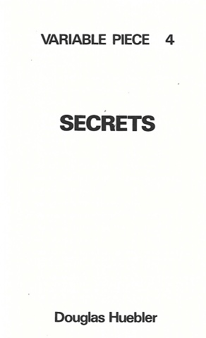 Variable Piece 4 : Secrets