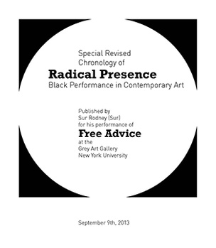 Radical Presence Revised Chronology