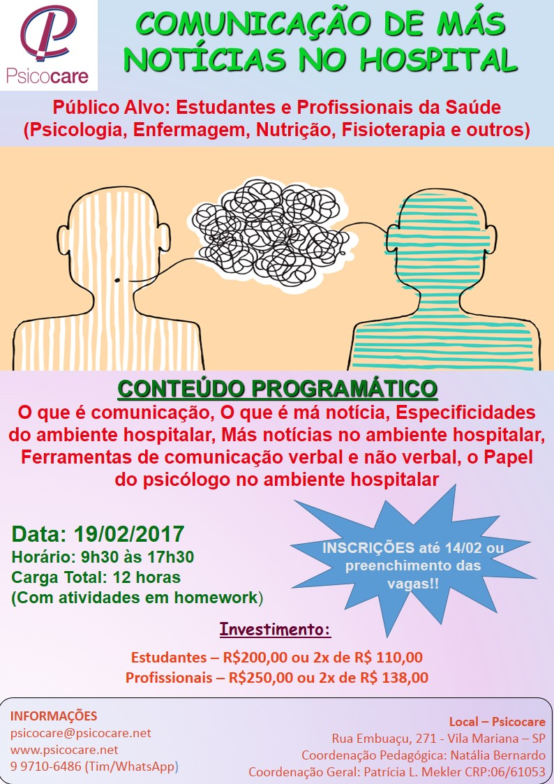 COMUNICAÇÃO DE MÁS NOTÍCIAS NO HOSPITAL