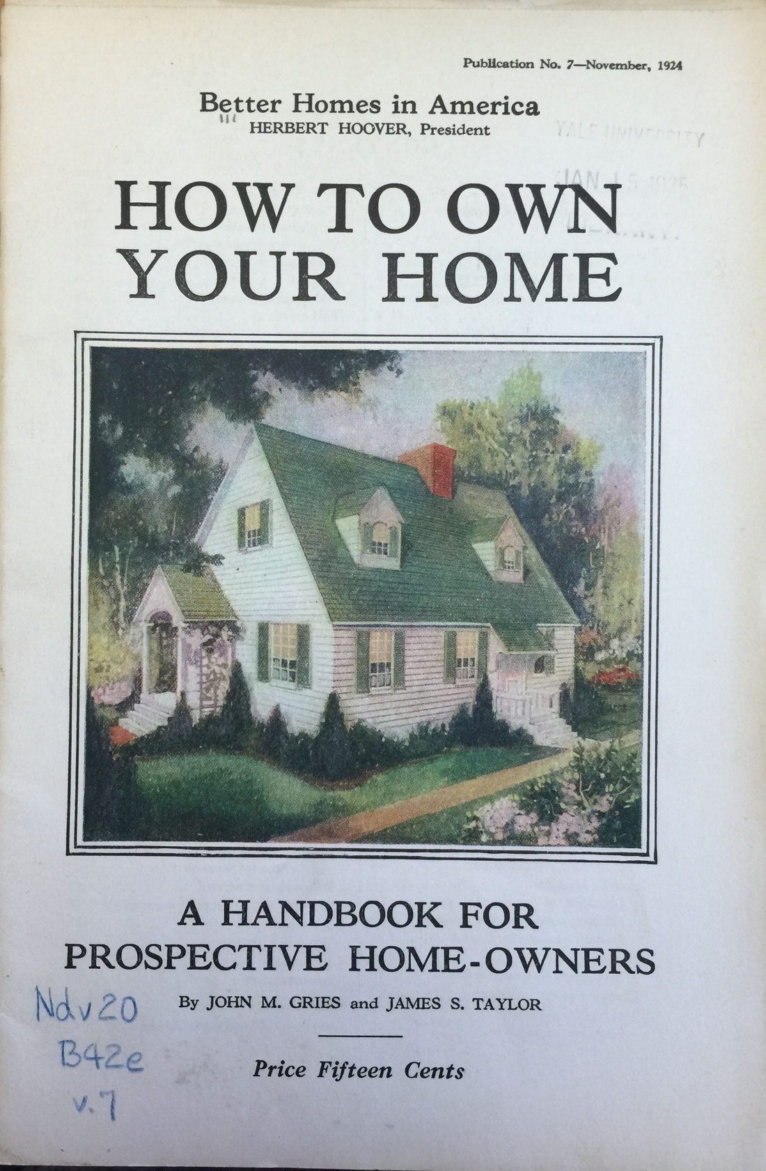 How to own your own home: A handbook for prospective home-owners (1924)