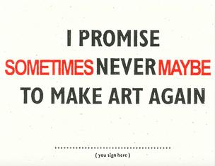 I Promise postcard