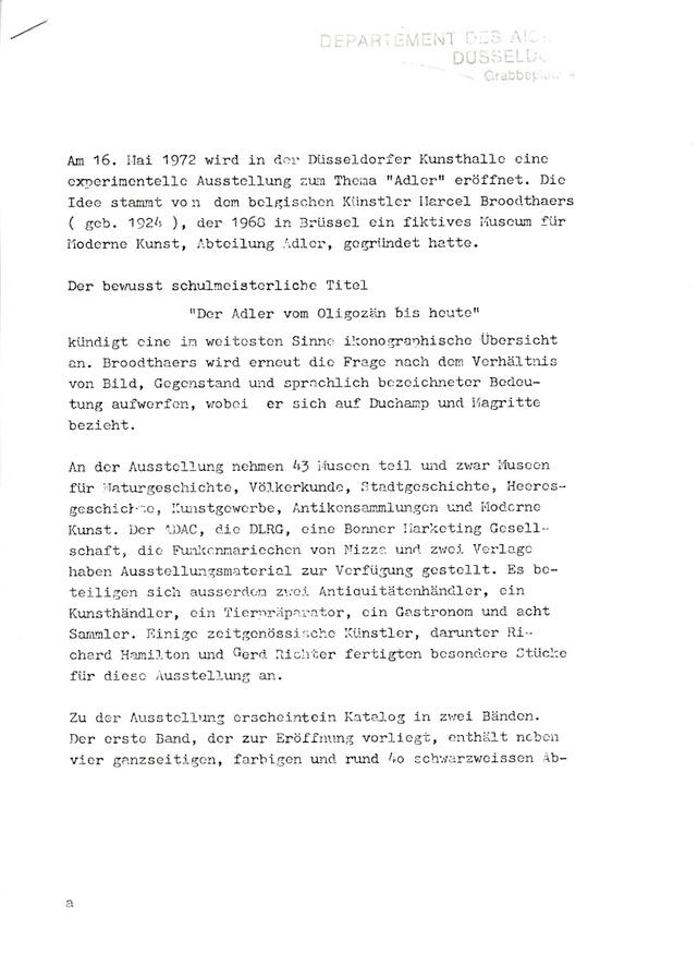 "Dusseldorf 1972 ""Musee d'Art Moderne, Departement des Aigles"" Press Pack Bootleg thumbnail 4"