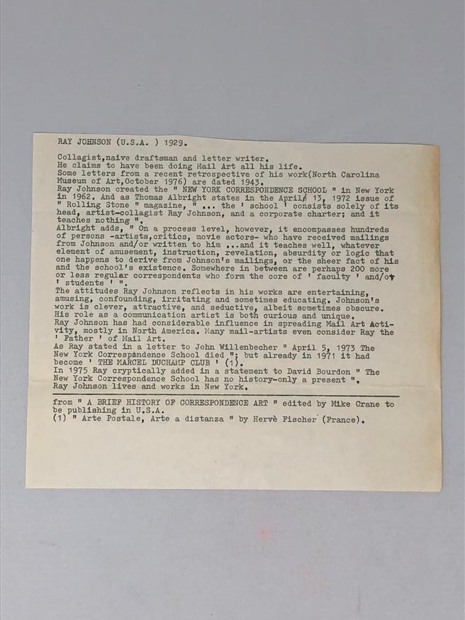 Untitled [Registered Letter Return Card] thumbnail 3