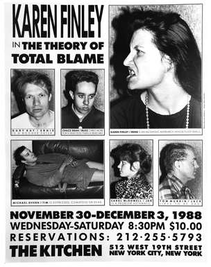 The Theory of Total Blame, November 30-December 3, 1988 [The Kitchen Posters]