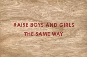 Raise Boys and Girls the Same Way Wooden Postcard