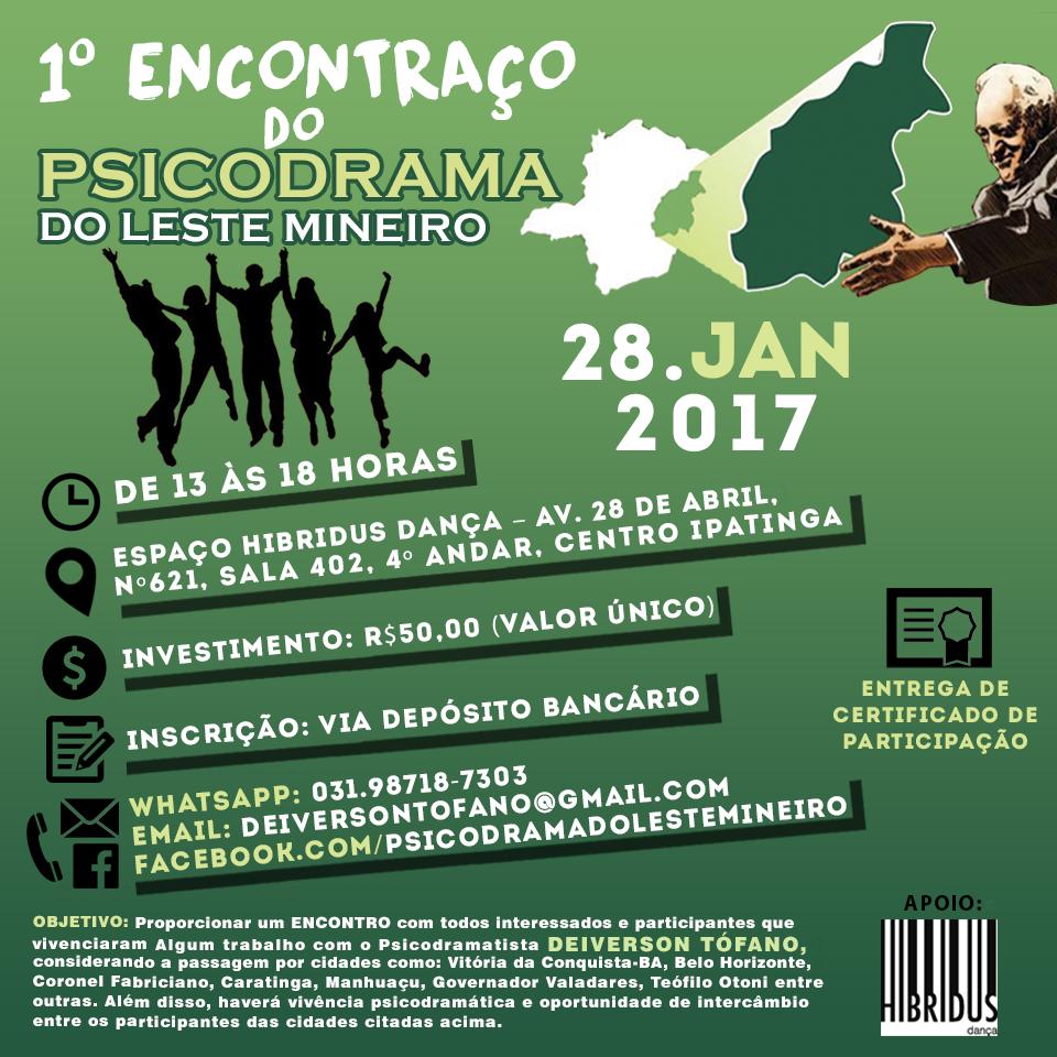 1º ENCONTRAÇO DO PSICODRAMA DO LESTE MINEIRO