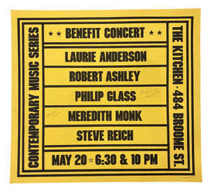Benefit Concert, May 20, 1978 (Signed) [The Kitchen Posters]