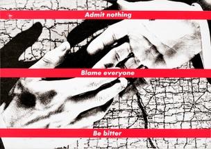 Admit Nothing Blame Everyone Be Bitter Postcard