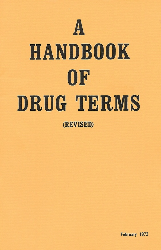 A Handbook of Drug Terms