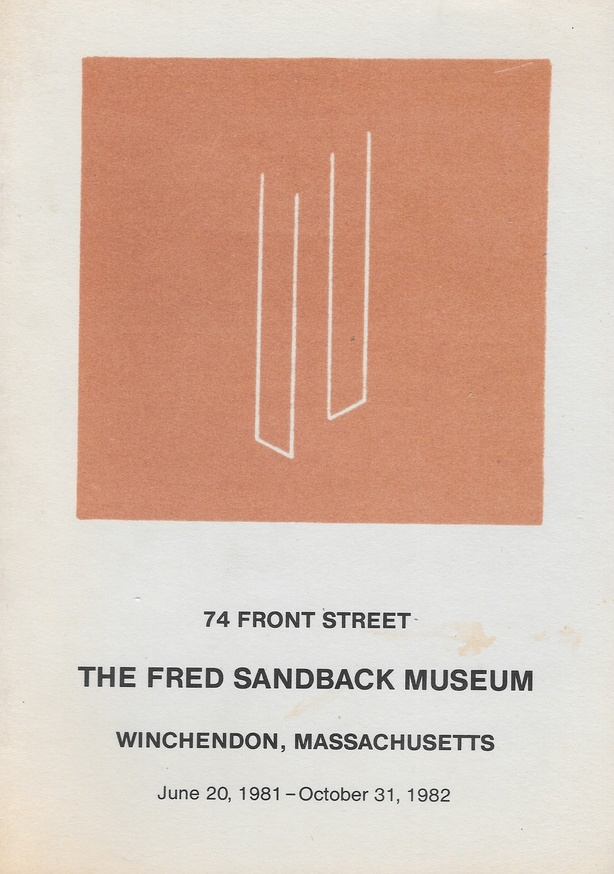Fred Sandback - The Fred Sandback Museum - Printed Matter