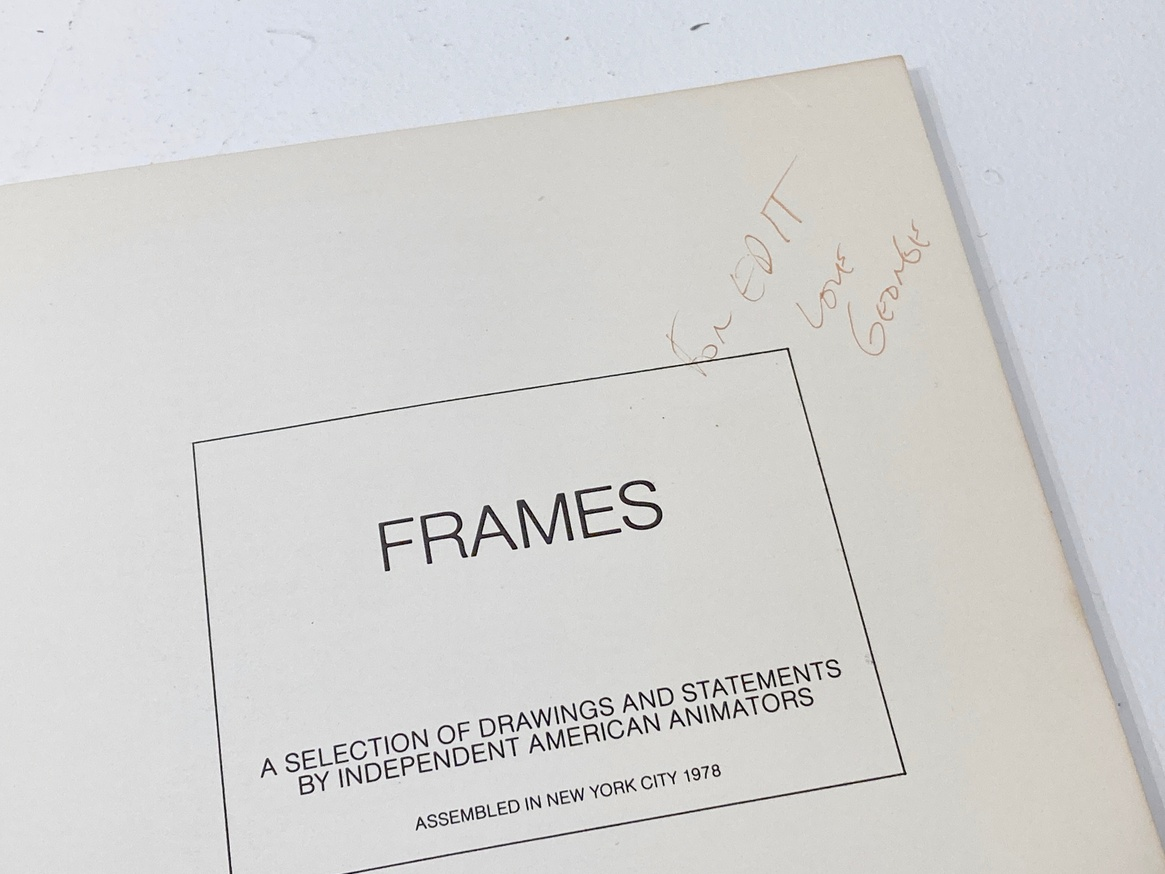 Frames: A Selection of Drawings and Statements by Independent American Animators thumbnail 2