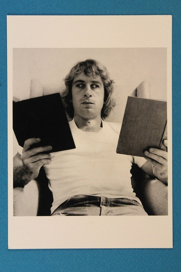 Reading Two Books 1971 Postcard