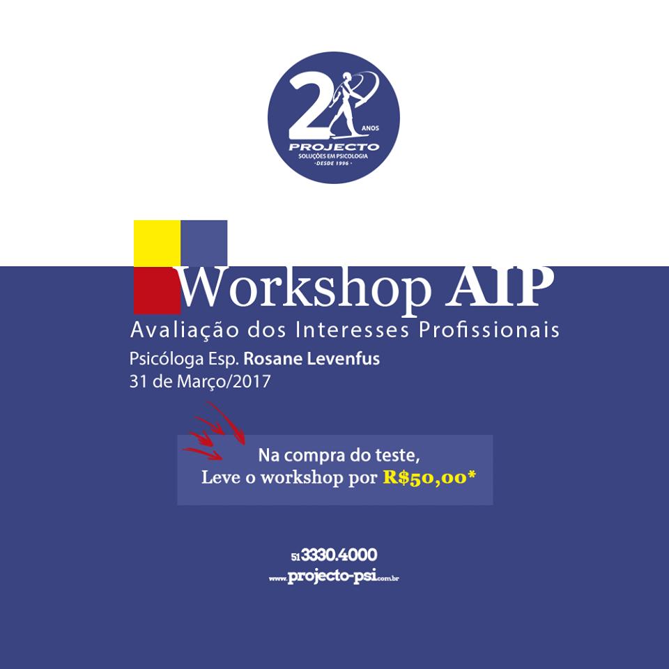 Workshop AIP - Avaliação dos Interesses Profissionais