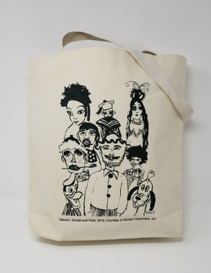 Tabboo!  Donald and Pluto tote bag