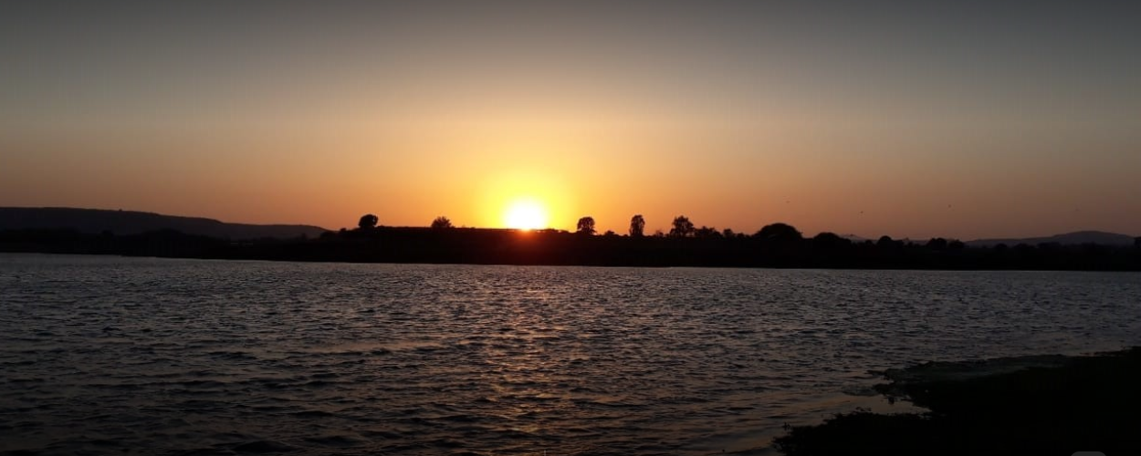 Sunset from Basil Farm Stay