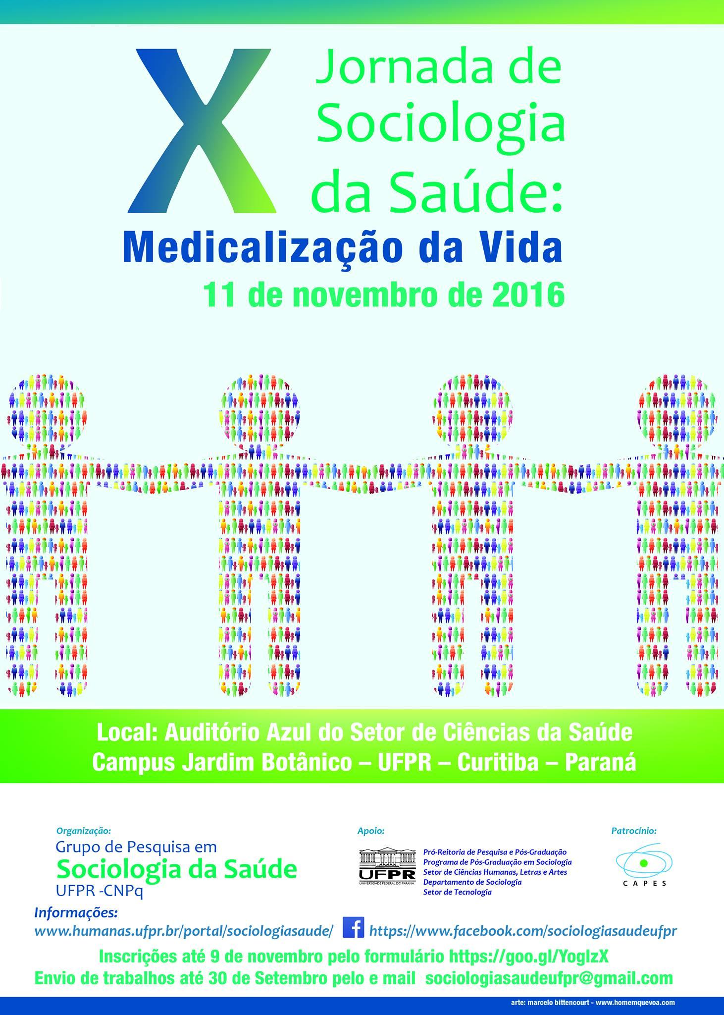 X JORNADA DE SOCIOLOGIA DA SAÚDE: MEDICALIZAÇÃO DA VIDA