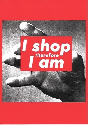 I Shop Therefore I Am Postcard
