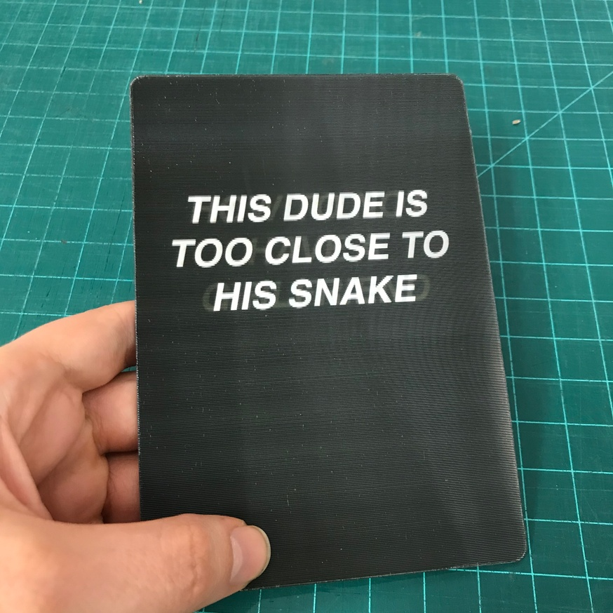 Headline A/B Test: How To Not Have A Girlfriend / This Dude Is Too Close To His Snake [Lenticular Card] thumbnail 2