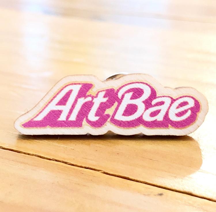 Art Bae Wooden Lapel Pin